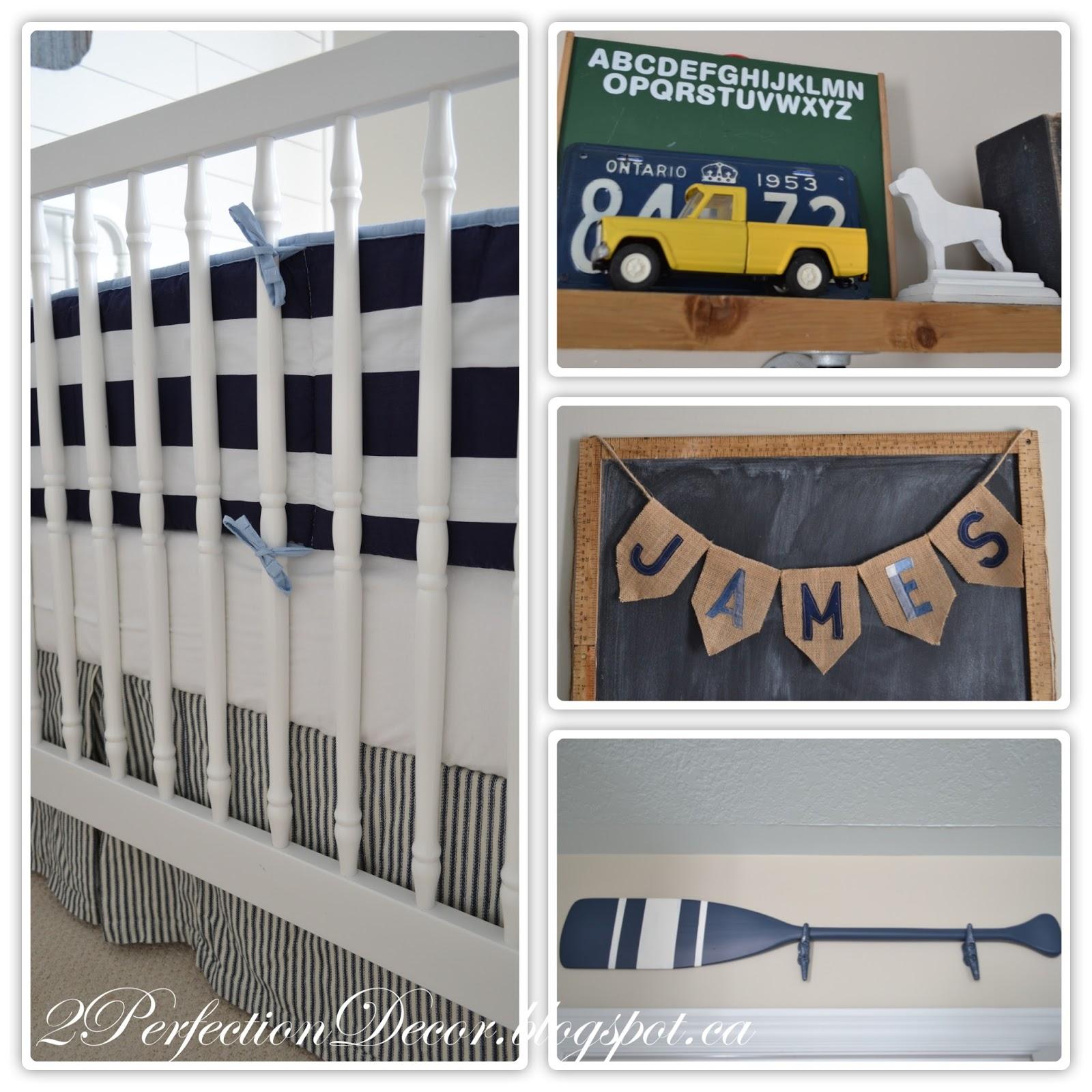 2perfection Decor Nautical Nursery Reveal - cheap home decor for nautical nursery
