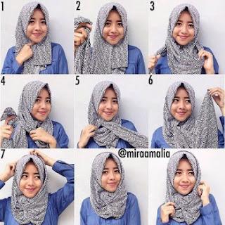 tutorial hijab pashmina kuliah