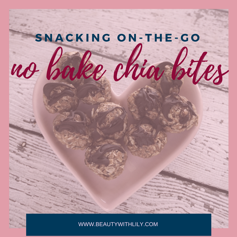 Easy, Healthy & Delicious Snack - Chia Seed Bites | beautywithlily.com