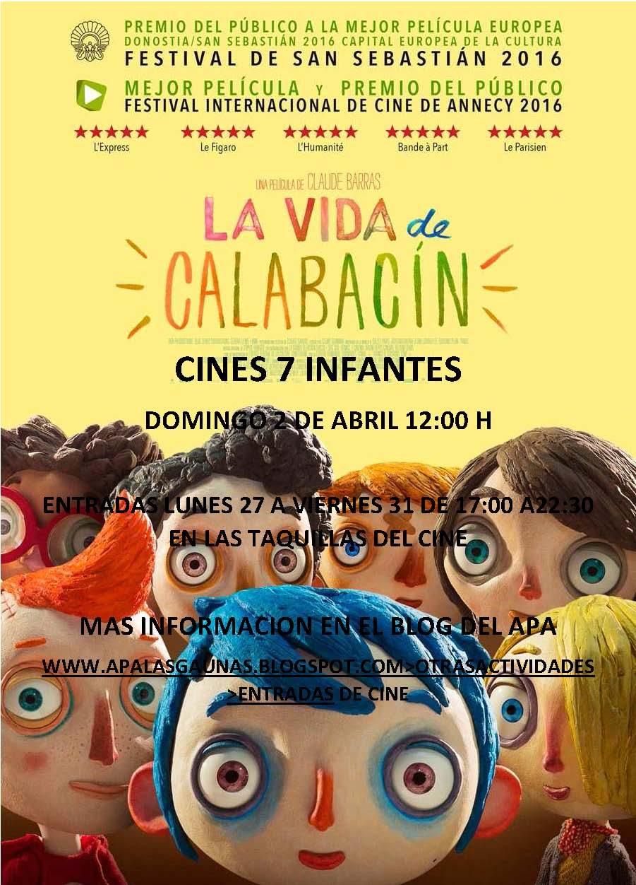 ver La vida de Calabacín 2017