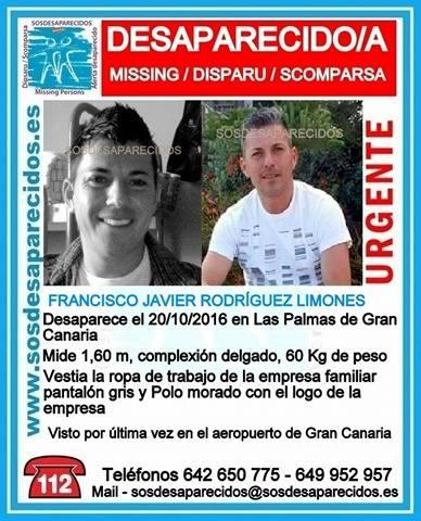 Joven desaparecido, Las Palmas de Gran Canaria, Javier Rodríguez Limones