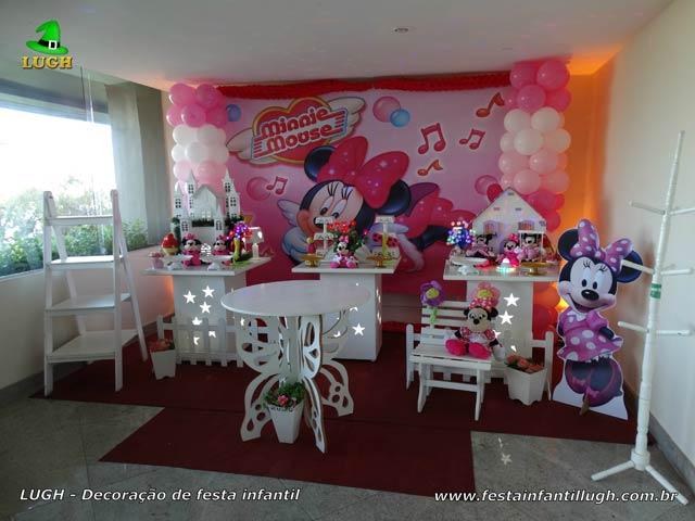 Decoração Minnie rosa provençal para festa de aniversário infantil feminino - Jacarepaguá RJ