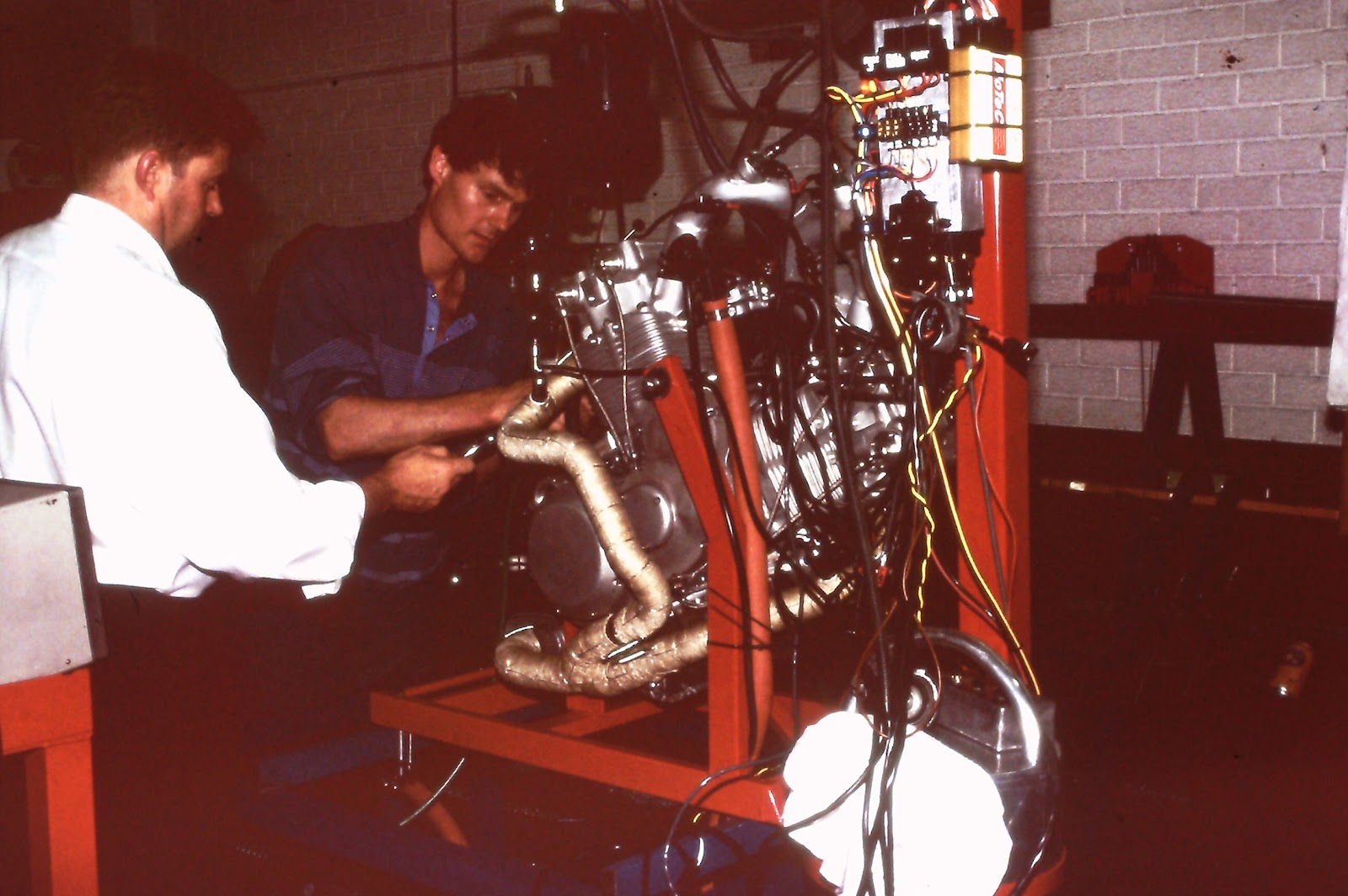 Hunwick Hallam Motorcycle Engine Test