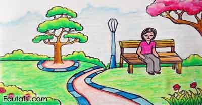 Cara Menggambar Pemandangan Taman Bermain Untuk Pemula