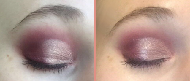 Wet n Wild Color Icon ten pan eye shadow in Nude Awakening before and after