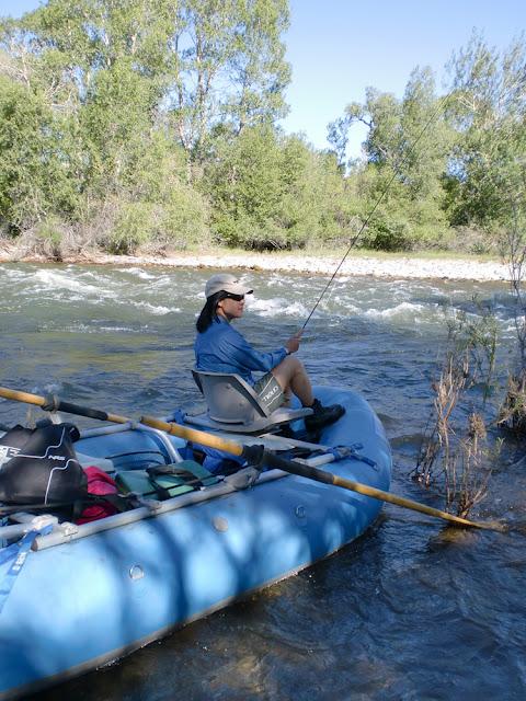 Flygirl Hyun Kounne, Boulder river, MT