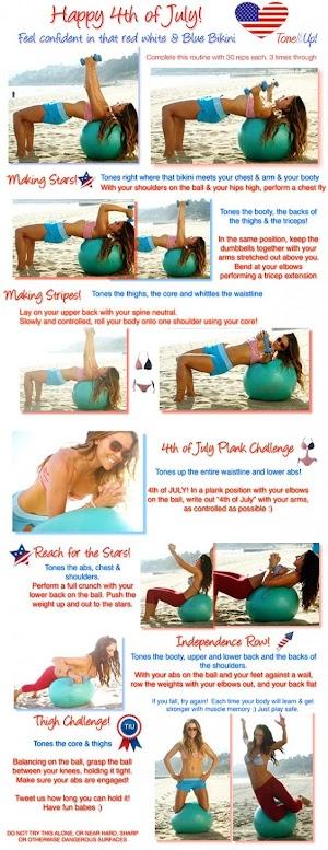 4th of July Bikini Workout