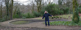 The 9th hole of the abandoned Crazy Golf course in Stamford Park, Stalybridge