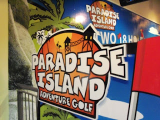 Paradise Island Adventure Golf at Braehead, Scotland
