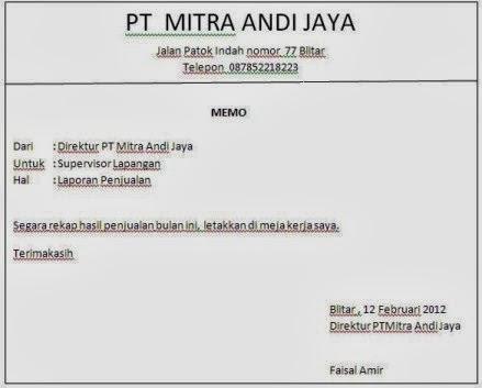 Contoh Saran 9 Contoh Text Report Tentang Binatang Kumpulan Contoh Surat Memo Dalam Bhs Inggris Dan Indonesia Merpati