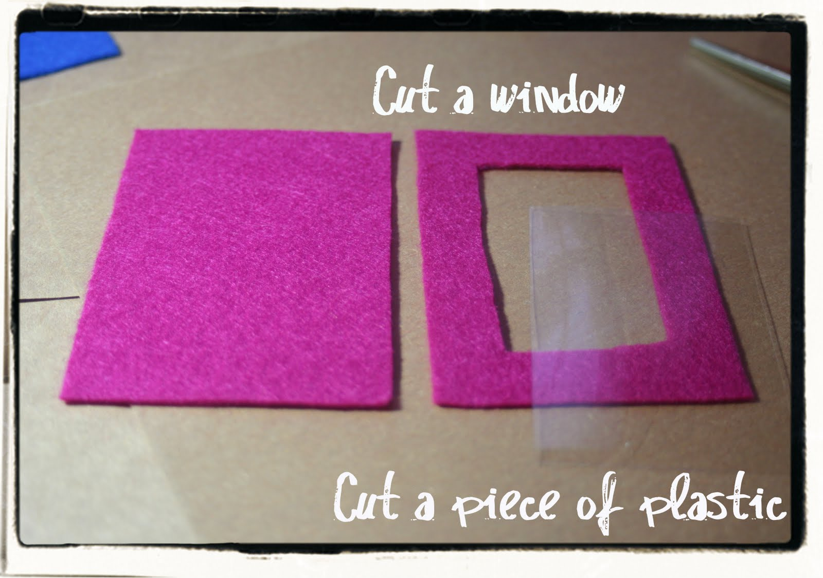 Felt Photo Frame Magnets and Felt Flower Magnets - Lines Across