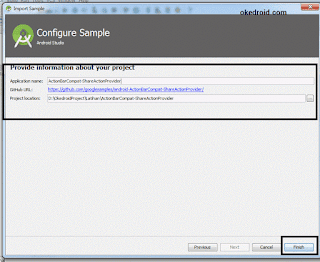 Configure Samples Android Studio