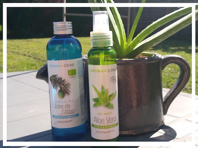 hydrolat cedre de l'atlas et gel d'aloé vera - aroma zone