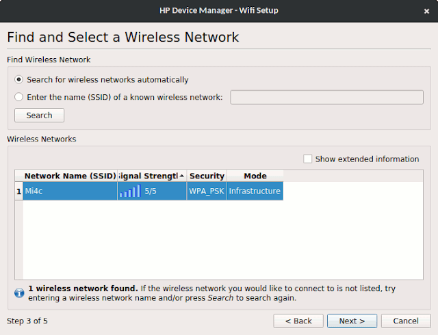 Find and select a wireless network