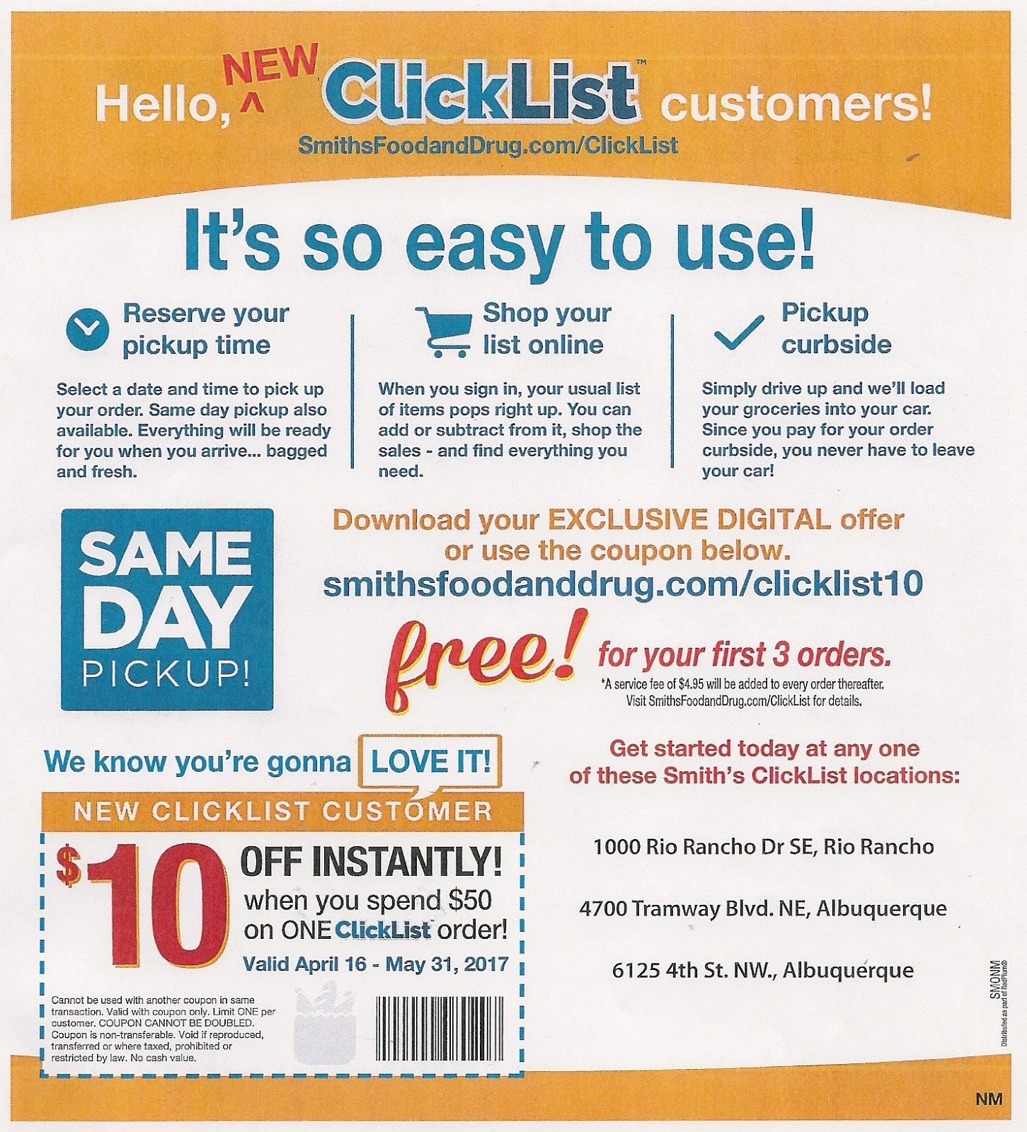 Smithsfoodanddrug digital coupons