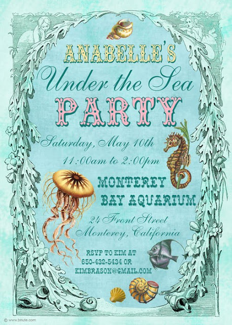 Blue+ocean+beach+baby+shower+theme+sea+mermaid+octopus+victorian+green+mint+seafoam+baby+shower+party+8 - Oh-cean, Baby!