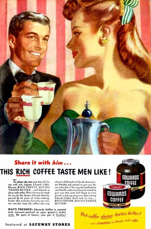 Sexist coffee ads