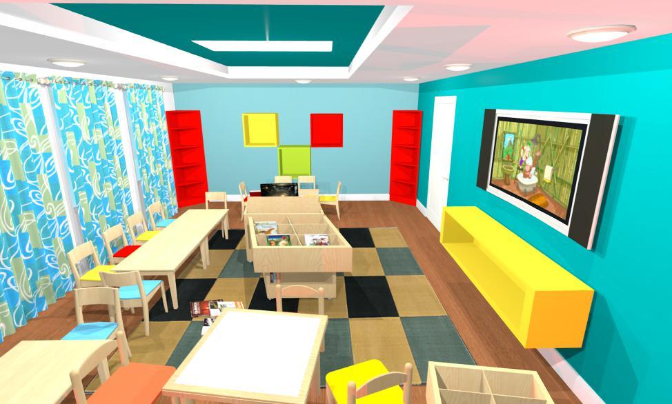 Amenajari interioare garadinite - Proiect design interior gradinita Constanta