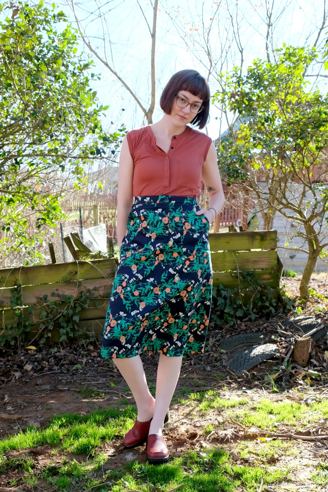 People Tree Thandie Marigold Skirt Review stylewise-blog.com