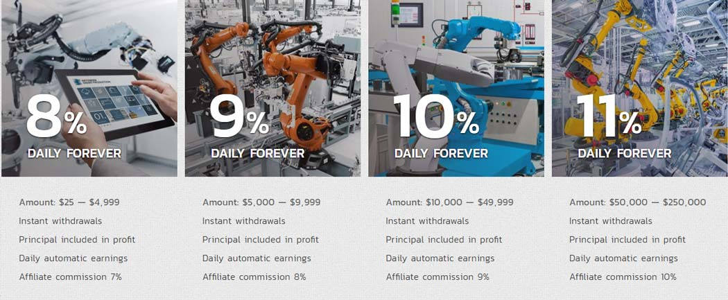 Инвестиционные планы Mainrobots 2