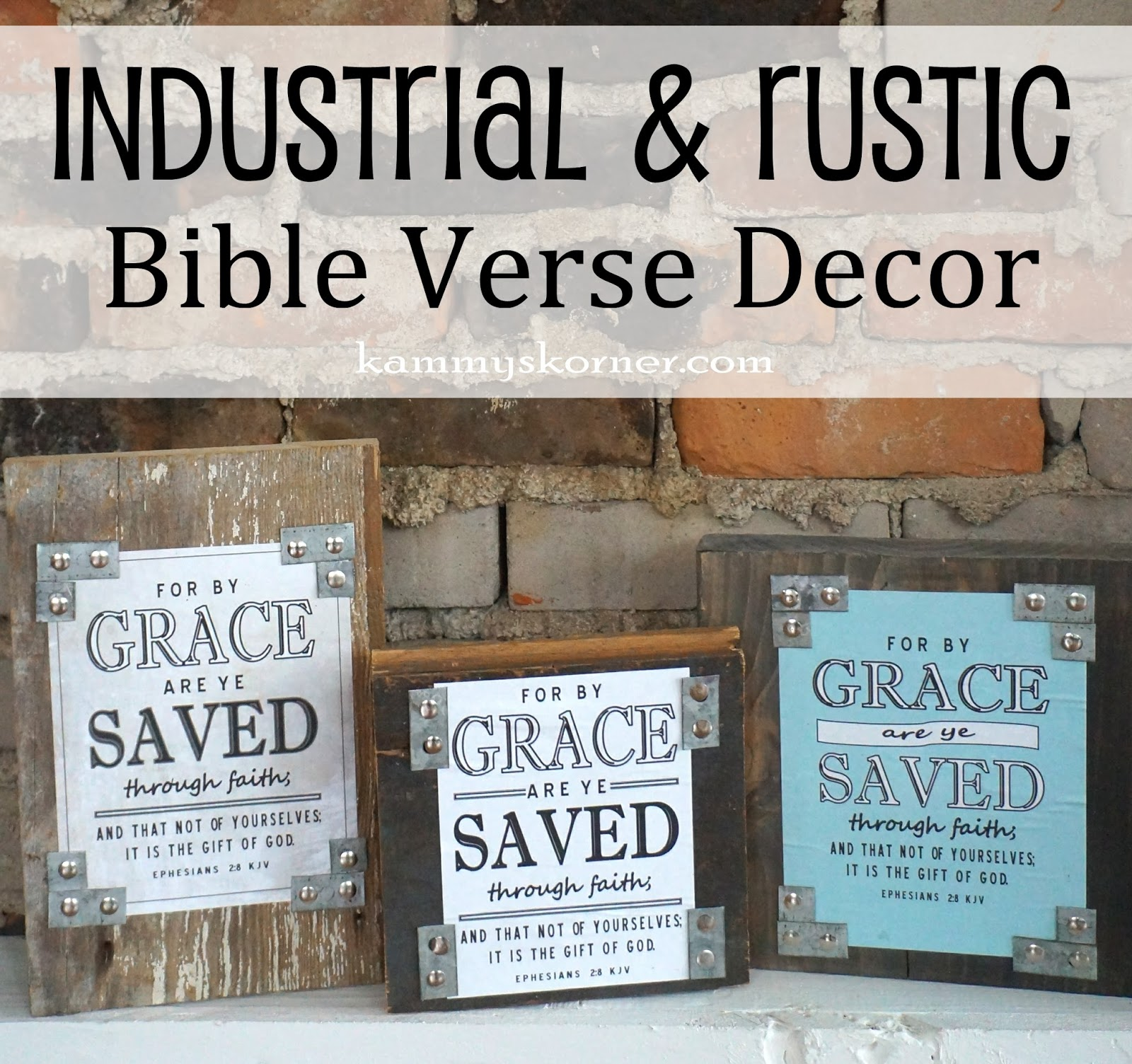 Kammy 39 s korner industrial rustic bible verse decor for Bible verse decor