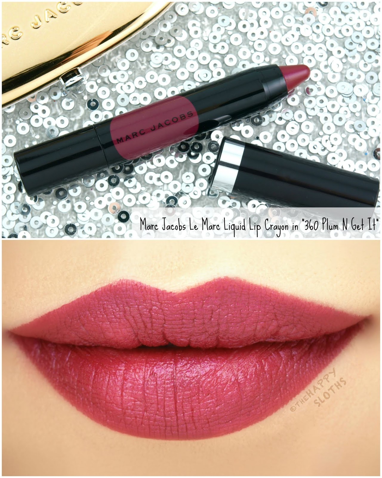 "Marc Jacobs | Le Marc Liquid Lip Crayon in ""360 Plum N Get It"": Review and Swatches"