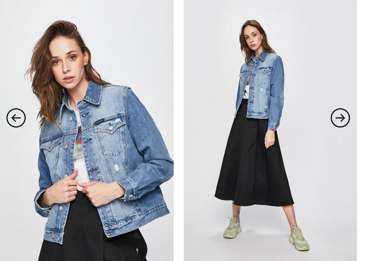 Calvin Klein Jeans - Geaca jeans originala de calitate superioara