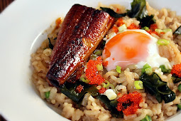 Japanese-style Risotto with Roasted Eel