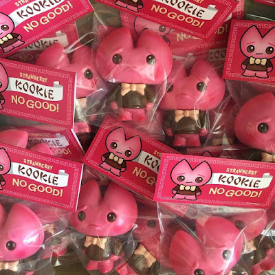 Strawberry Edition Kookie No Good Vinyl Figure by Scott Tolleson & De Korner