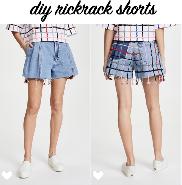 diy rickrack ribbon shorts inspired by Ksenia Schnaider's Vintage RickRack Shorts