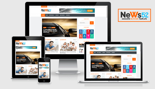 News52 - Responsive Newspaper/Magazine Blogger Template