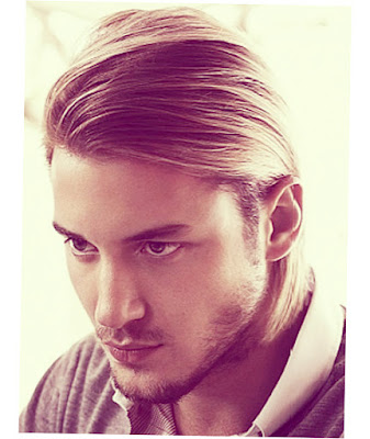 Mens Long Hairstyles Bun Straight