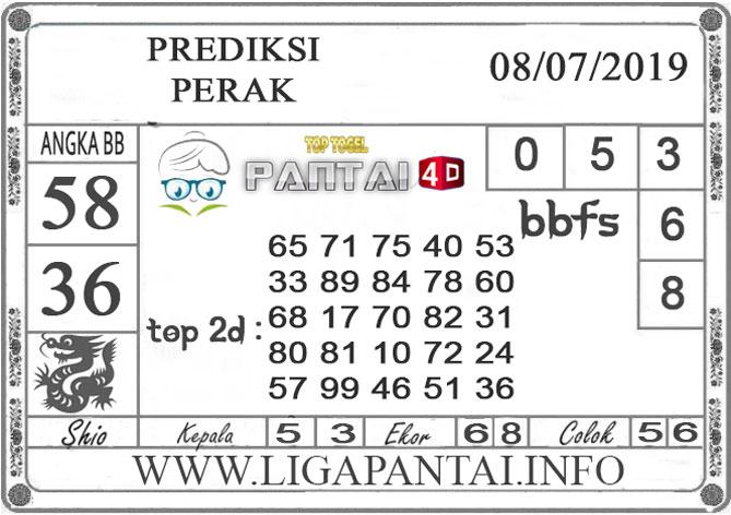 """PREDIKSI TOGEL """"PERAK"""" PANTAI4D 8 JULI 2019"""