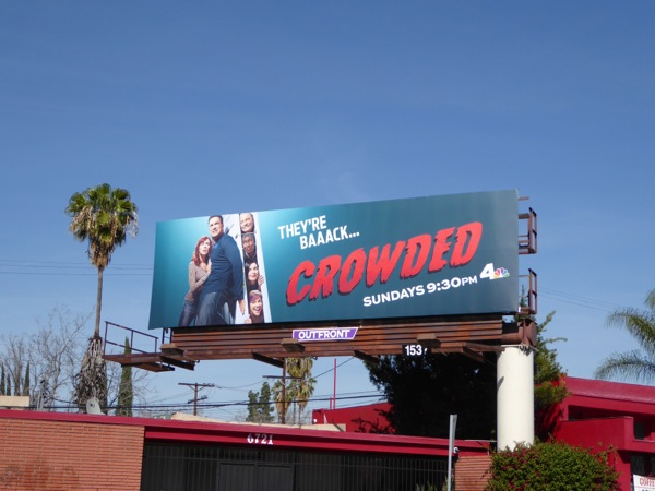 Crowded series launch billboard