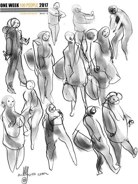 Gesturedrawings from the train station by Artmagenta