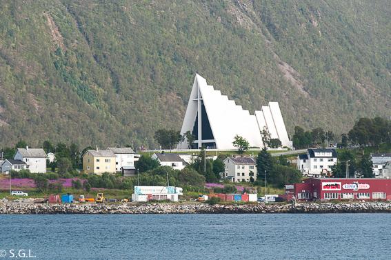 La catedral del ártico de Tromso. Noruega