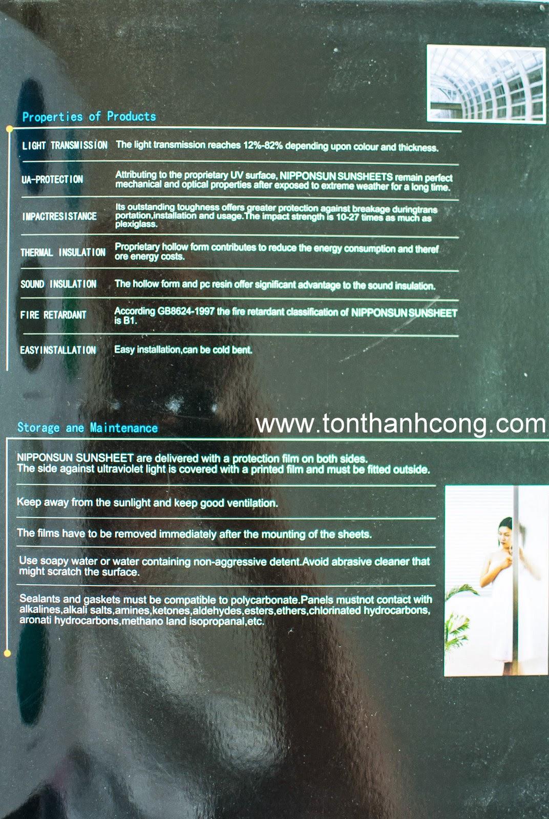 Catalogue Tấm Lấy Sáng Polycarbonate Rỗng Ruột NIPPON - Trang  4