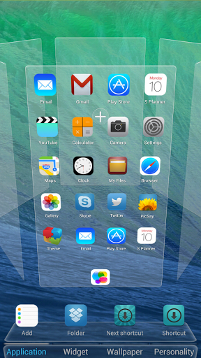 Android app center: iOS 7 theme for android - The Next launcher for iOS7