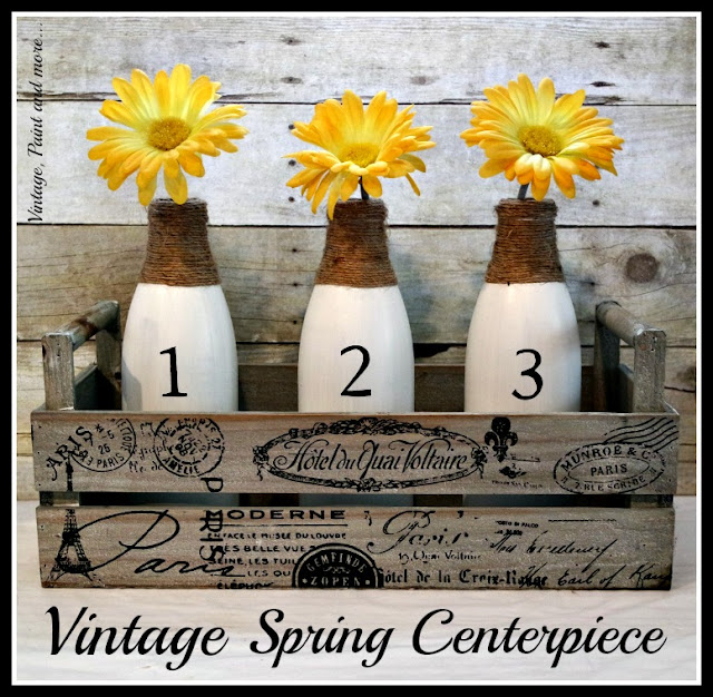 pinterest image for spring vignette