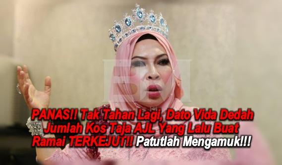 PANAS!! Tak Tahan Lagi, Dato Vida Dedah Jumlah Kos Taja AJL Yang Lalu Buat Ramai TERKEJUT!! Patutlah Mengamuk!!!