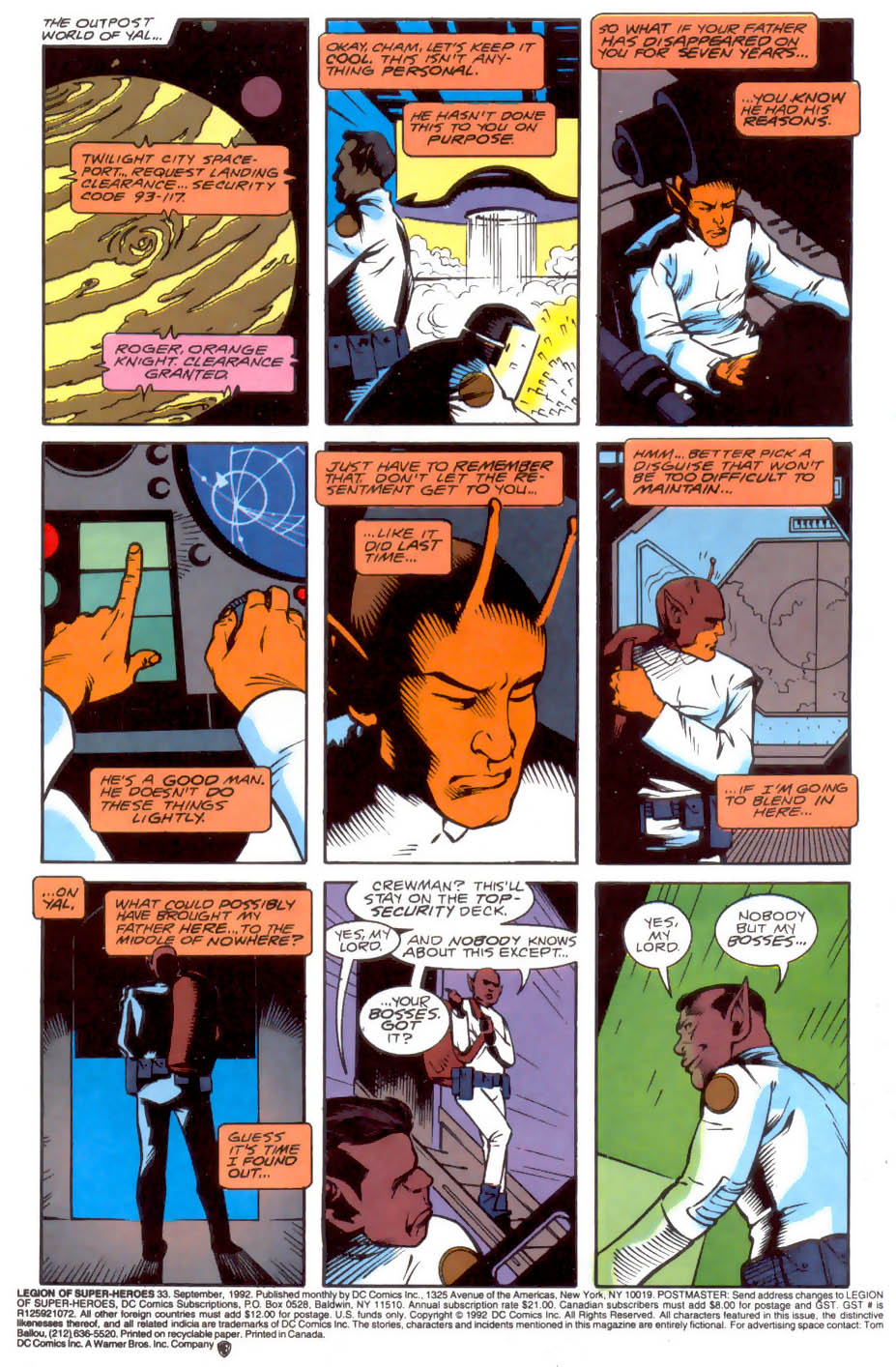 Legion of Super-Heroes (1989) 33 Page 1