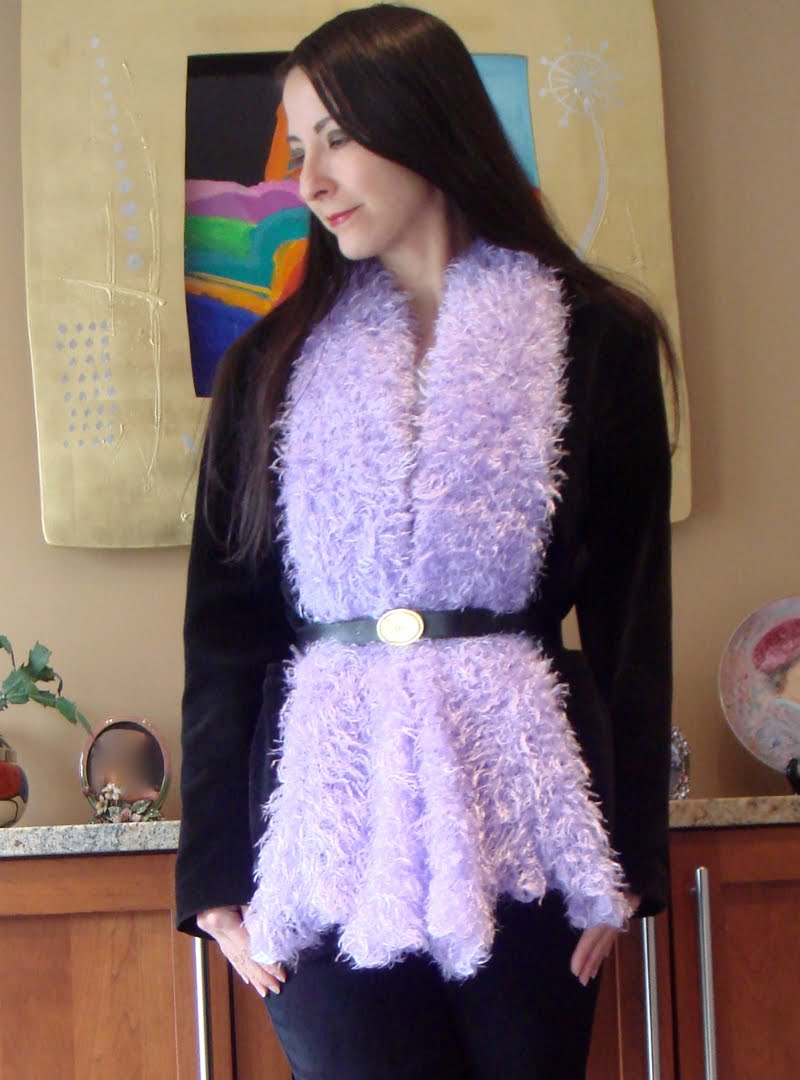 Black Velvet & Purple Fuzz outfit  - same as first pic