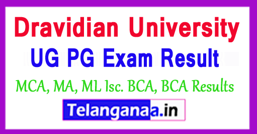 Dravidian University UG PG Exam 2018 Results