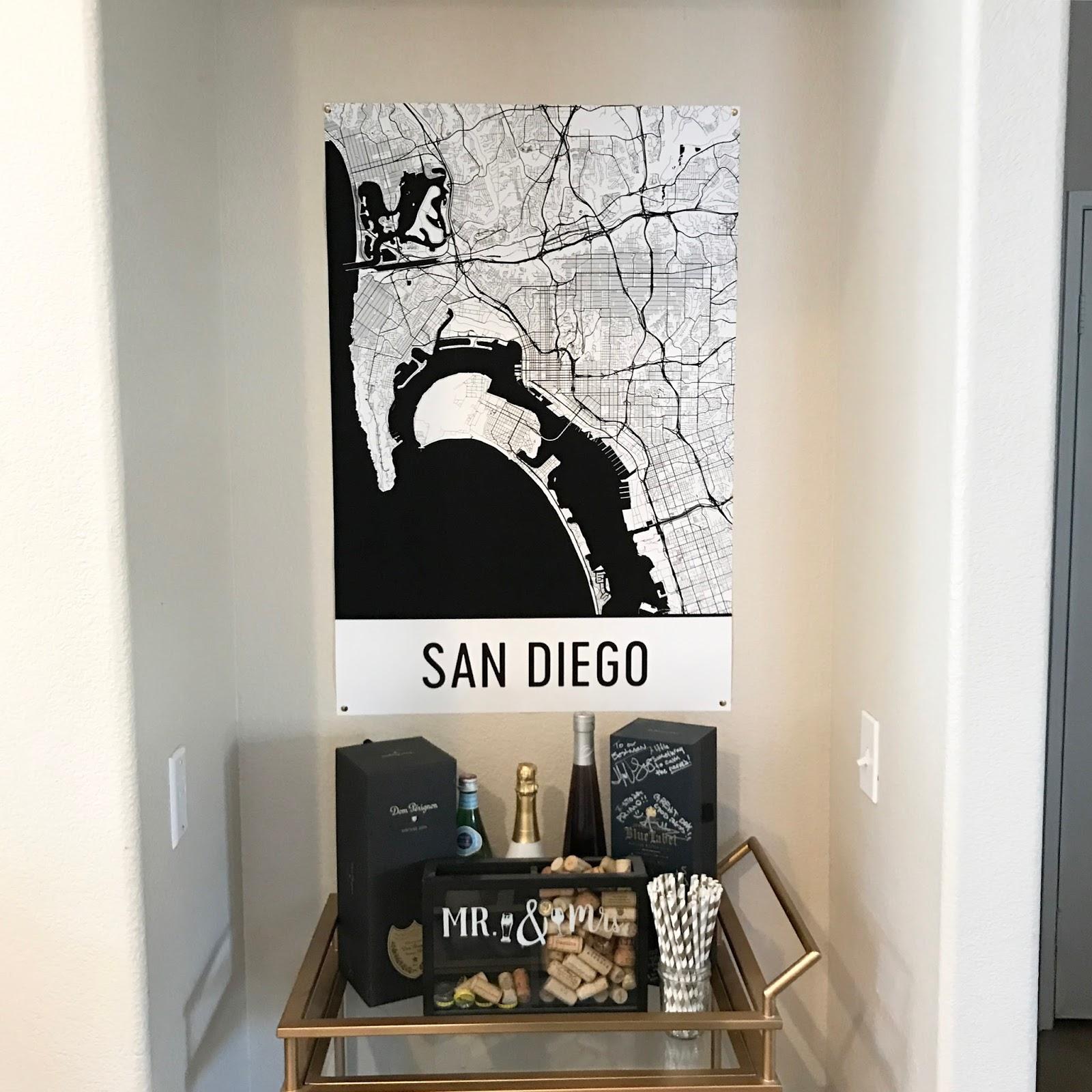 San Diego Poster, San Diego art, San Diego map art