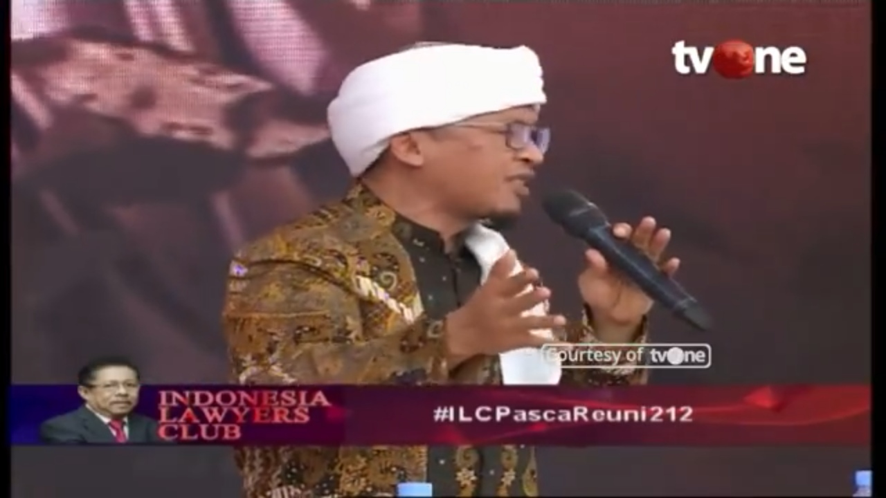 Tim Jokowi Bikin Malu di ILC,  Aa Gym Lakukan Ini 3 Kali Untuk Menenangkan