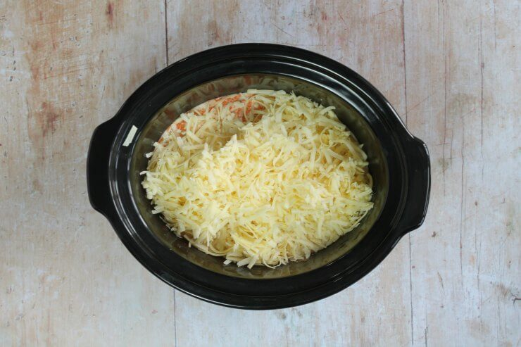 Cheese in the slow cooker