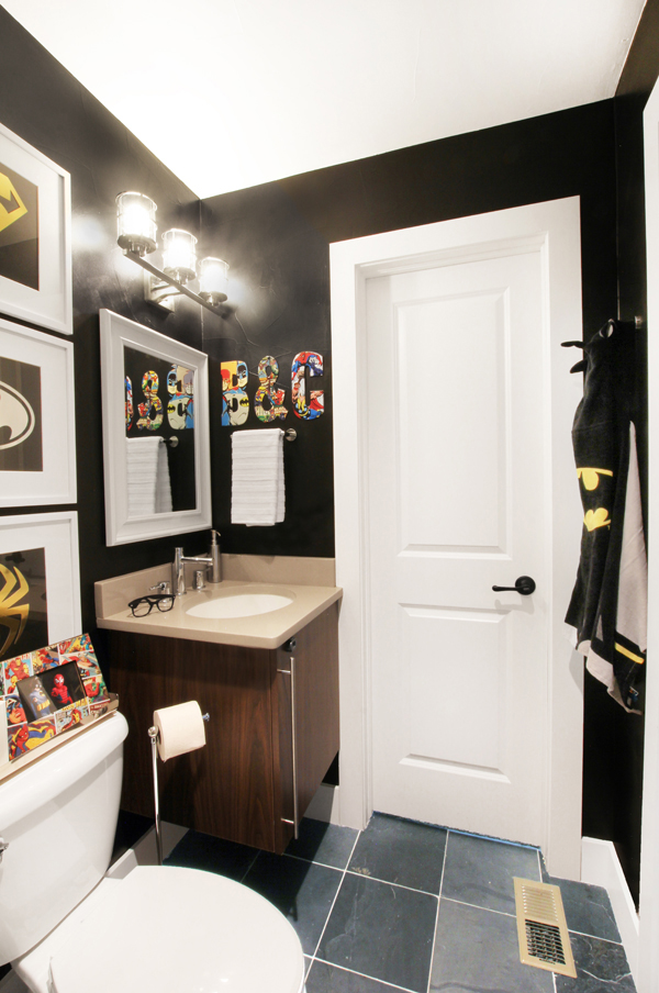 Decorating With Style A Sophisticated Superhero Bathroom