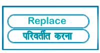 Replace meaning in HINDI