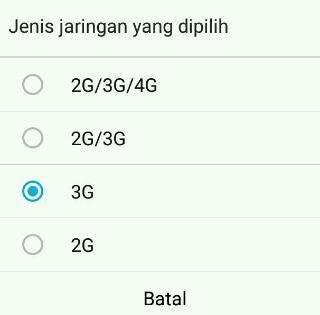 Agar jaringan android tidak berubah otomatis dan tetap di jaringan 4G