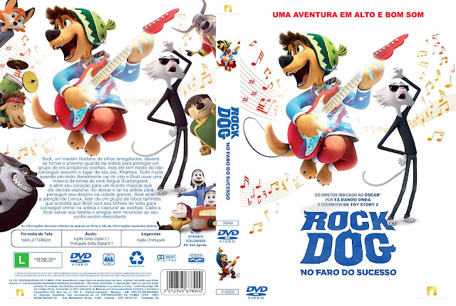 Capa DVD Rock Dog No Faro do Sucesso [Exclusiva]